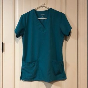 Jockey teal stretch scrub set sm